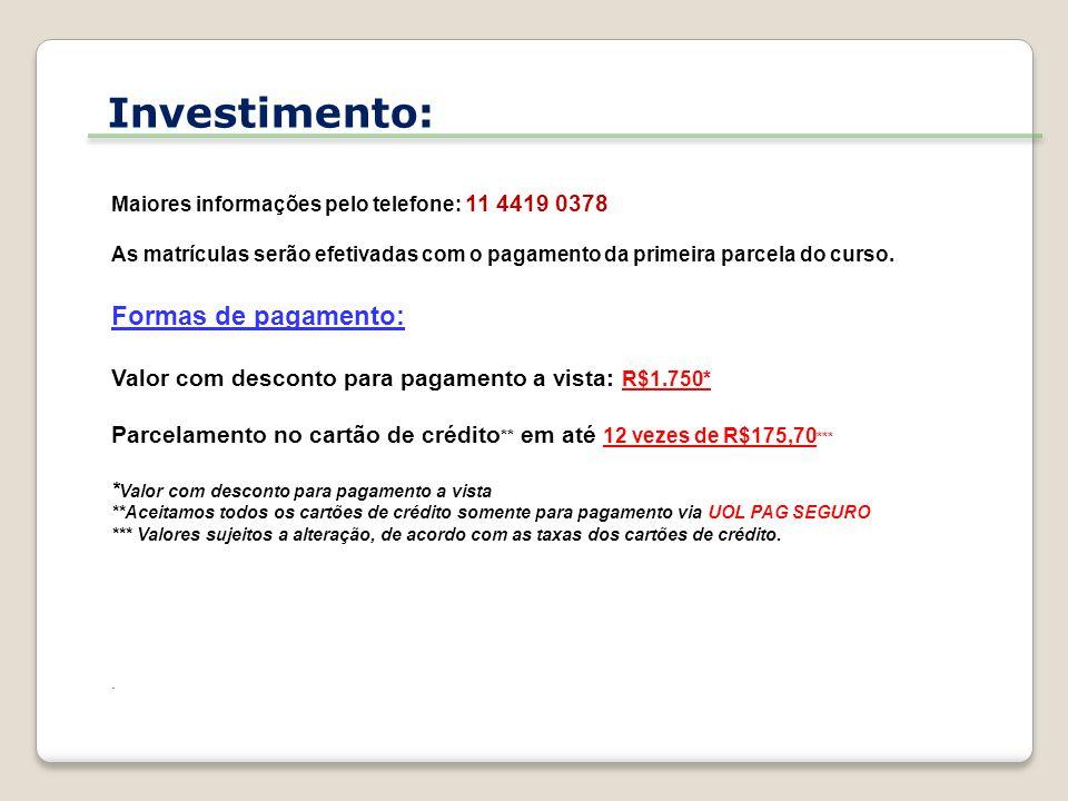 Realização: MOSTEIRO DE SÃO BENTO Largo de São Bento, s/no.