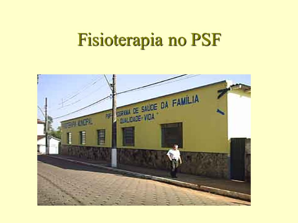 Fisioterapia no PSF