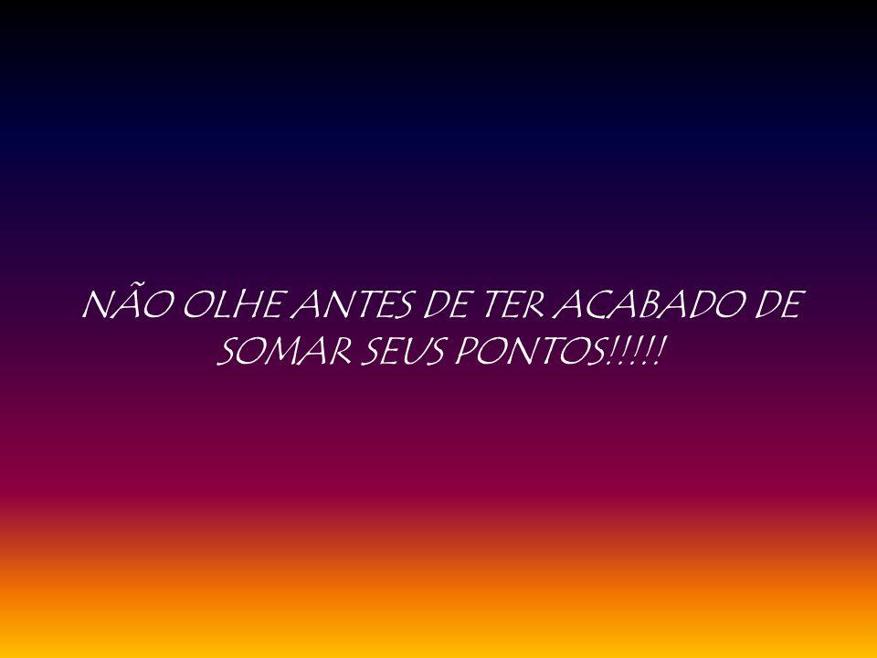 NÃO OLHE ANTES DE TER ACABADO DE SOMAR SEUS PONTOS!!!!!