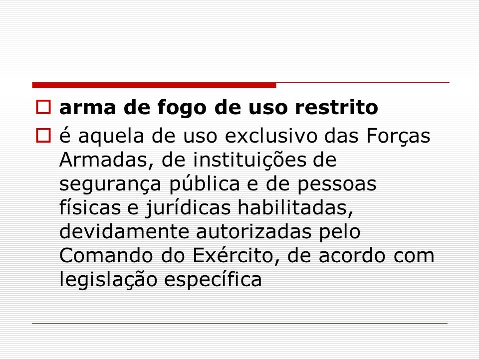 CERTIFICADO DE REGISTRO DE ARMA DE FOGO Art.