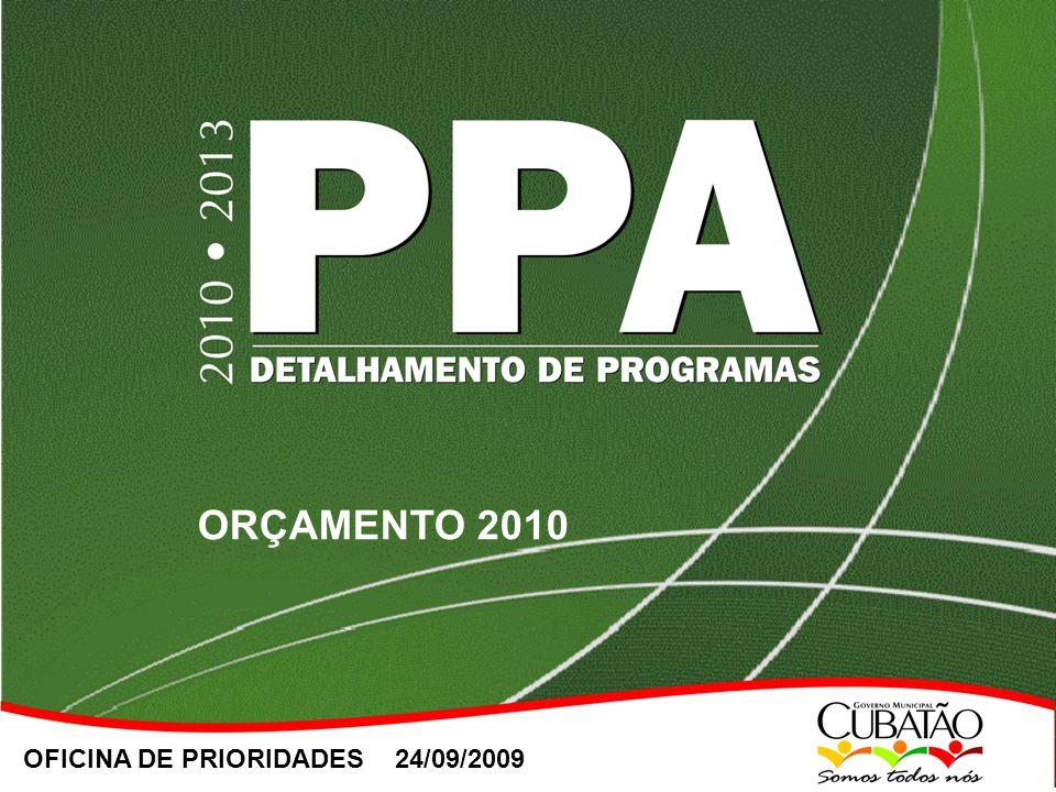 OFICINA DE PRIORIDADES 24/09/2009 ORÇAMENTO 2010