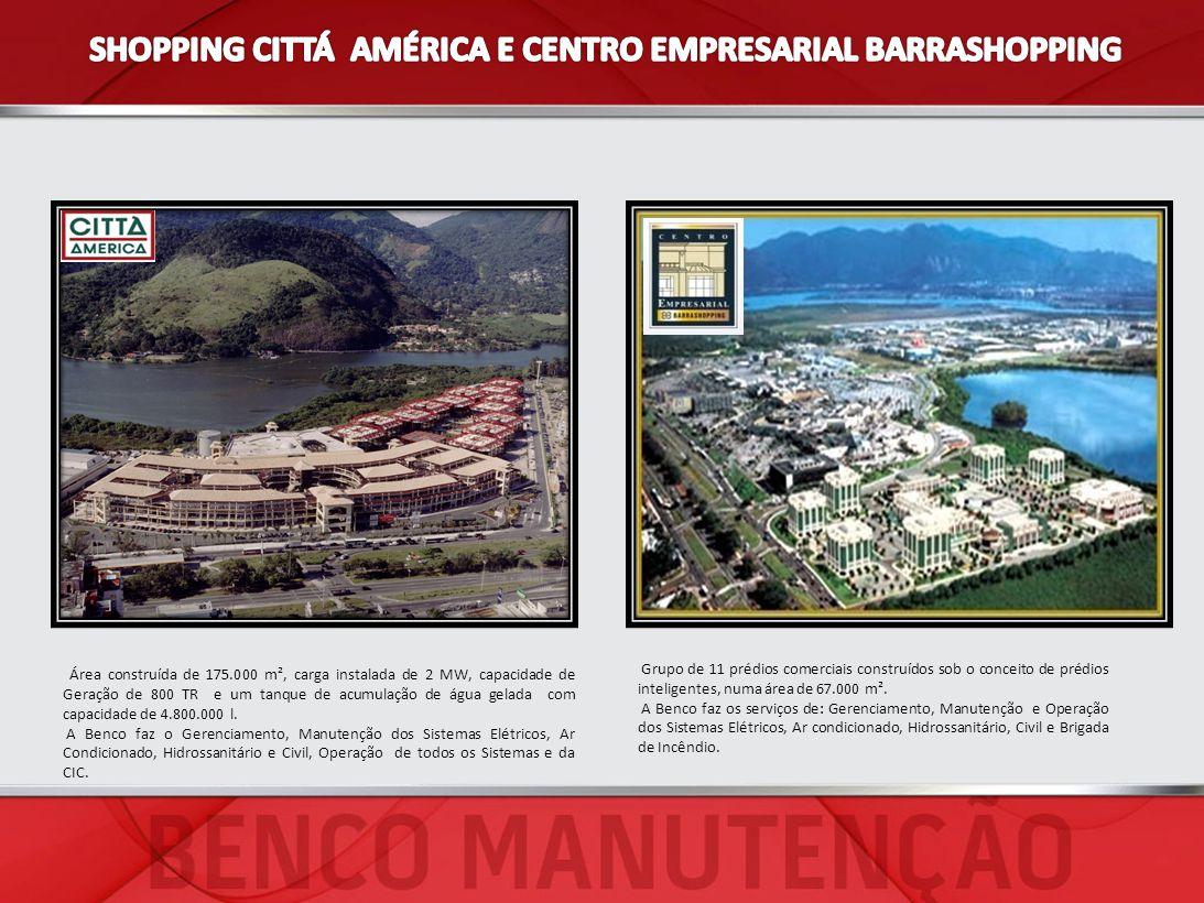 Área construída de 175.000 m², carga instalada de 2 MW, capacidade de Geração de 800 TR e um tanque de acumulação de água gelada com capacidade de 4.8