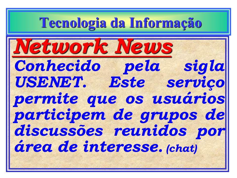 Tecnologia da Informação Tecnologia da Informação Correio eletrônico Internet Intranet É a tecnologia mais utilizada, tanto na Internet quanto na empr