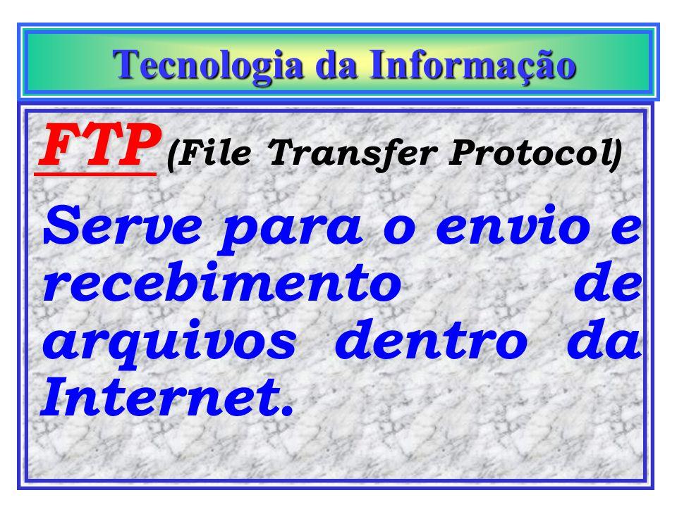 Tecnologia da Informação Tecnologia da Informação Network News Conhecido pela sigla USENET. Este serviço permite que os usuários participem de grupos