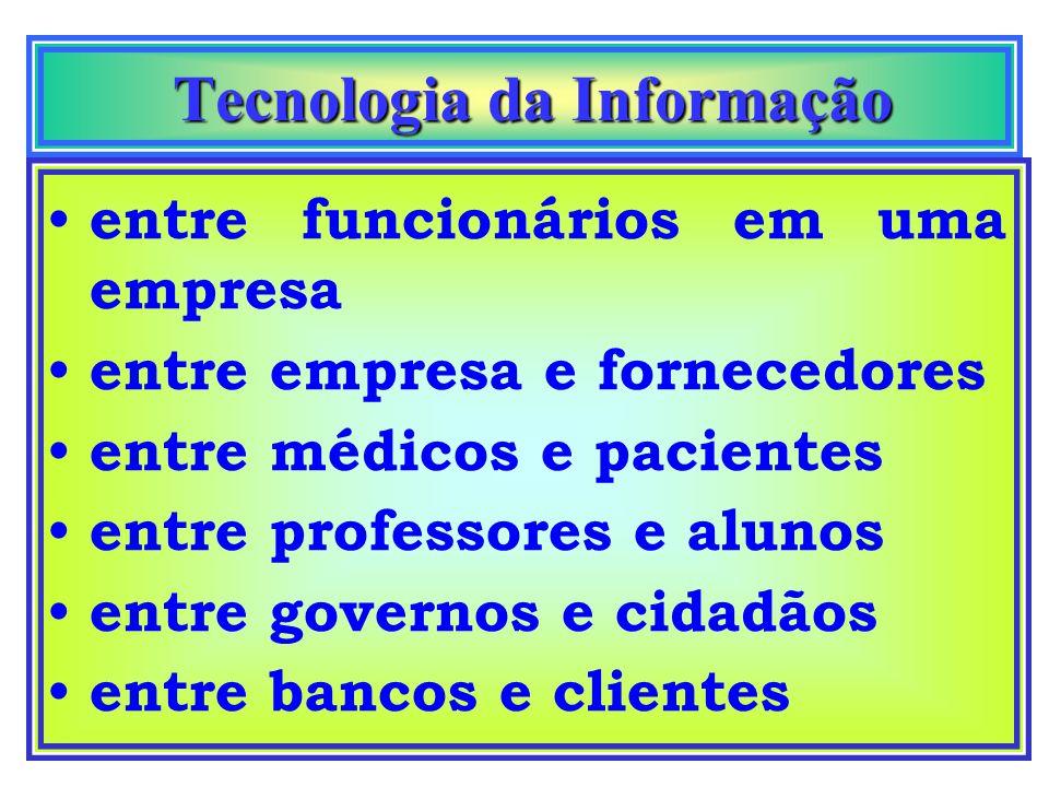 Tecnologia da Informação Tecnologia da Informação clientes funcionáriosfornecedores parceiros A tecnologia e-businnes permite conectar a empresa, faze