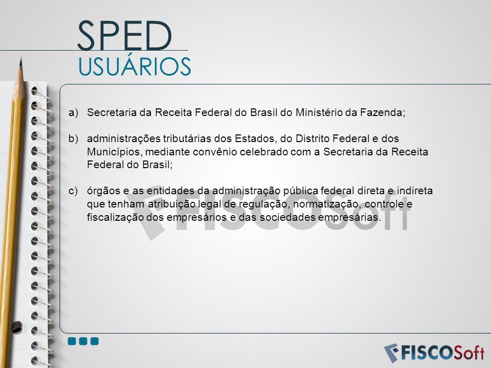 a)Secretaria da Receita Federal do Brasil do Ministério da Fazenda; b)administrações tributárias dos Estados, do Distrito Federal e dos Municípios, me