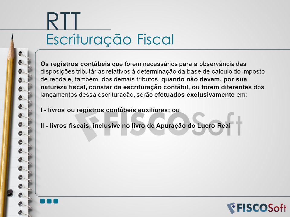 Os registros contábeis que forem necessários para a observância das disposições tributárias relativos à determinação da base de cálculo do imposto de