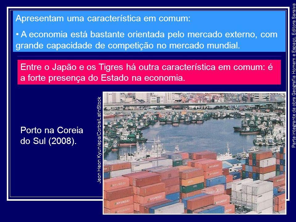 Parte integrante da obra Geografia Homem e Espaço, Editora Saraiva Apresentam uma característica em comum: A economia está bastante orientada pelo mer