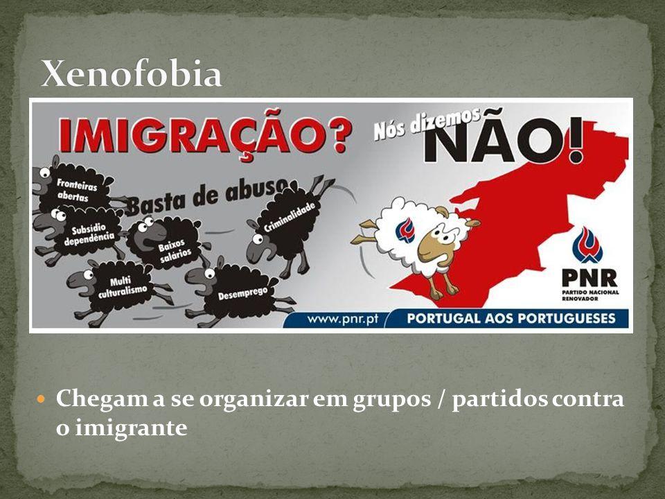 Chegam a se organizar em grupos / partidos contra o imigrante