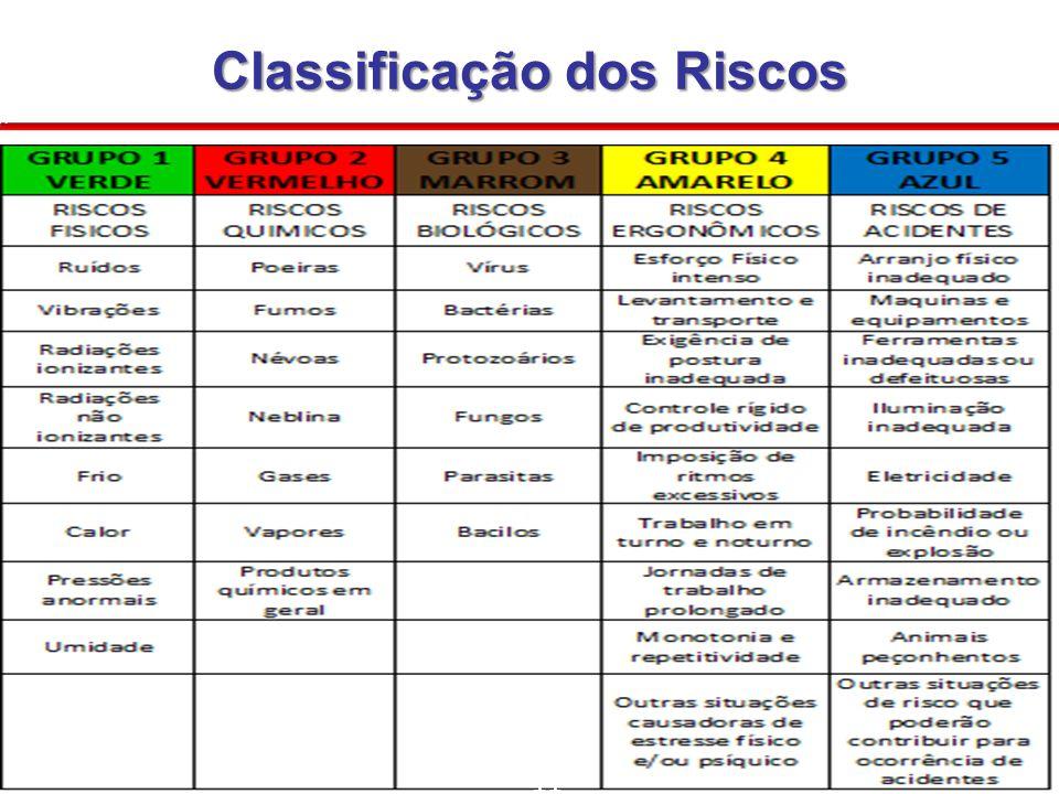 Classificação dos Riscos 11