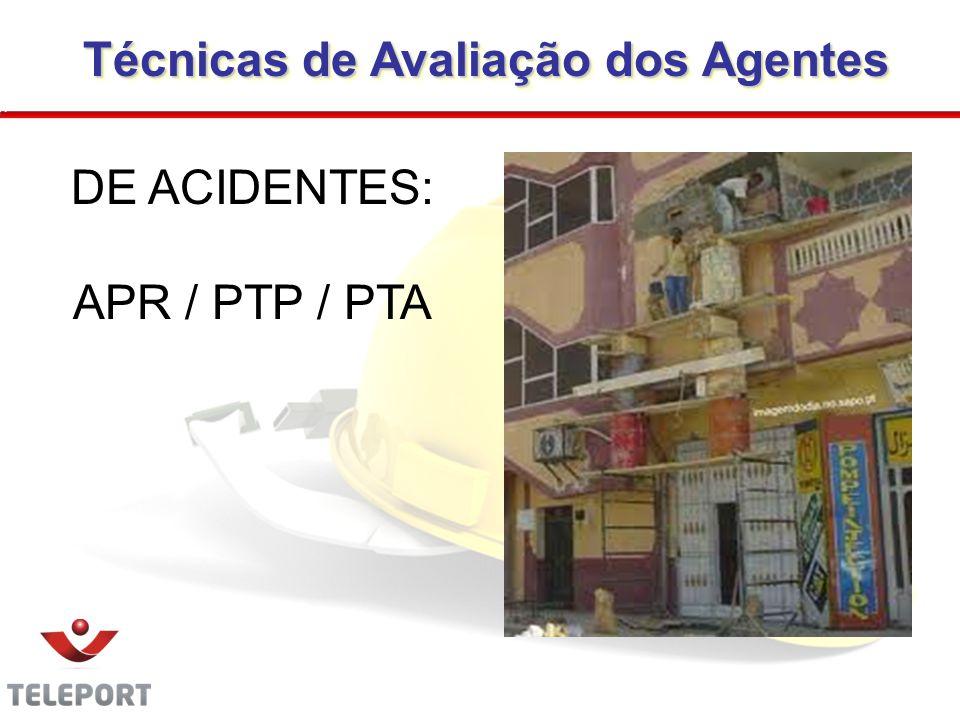 Técnicas de Avaliação dos Agentes Técnicas de Avaliação dos Agentes DE ACIDENTES: APR / PTP / PTA 29