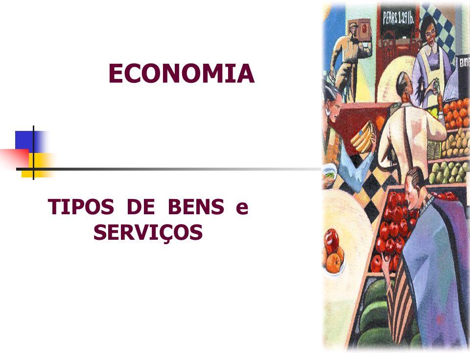 ECONOMIA TIPOS DE BENS e SERVIÇOS