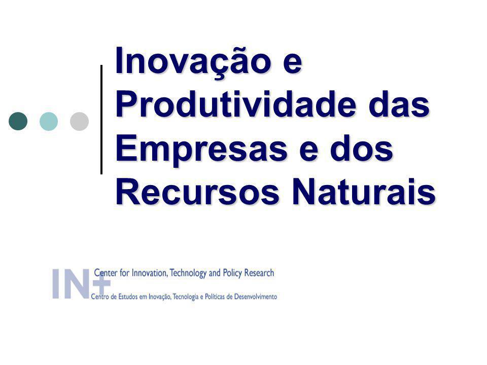 Inovação e Produtividade das Empresas e dos Recursos Naturais