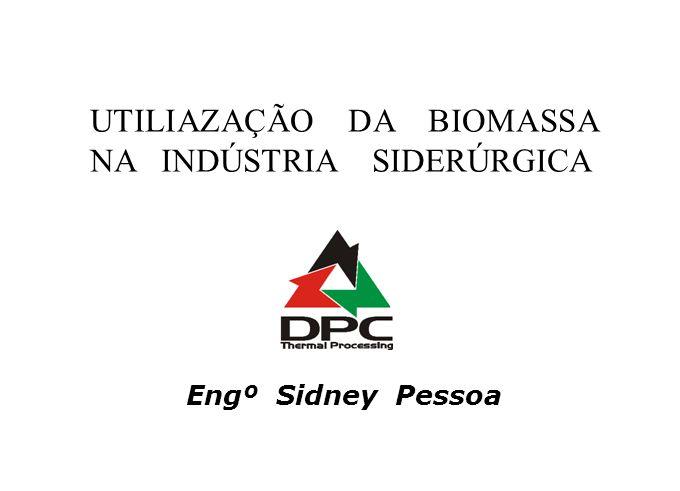 UTILIAZAÇÃO DA BIOMASSA NA INDÚSTRIA SIDERÚRGICA Engº Sidney Pessoa
