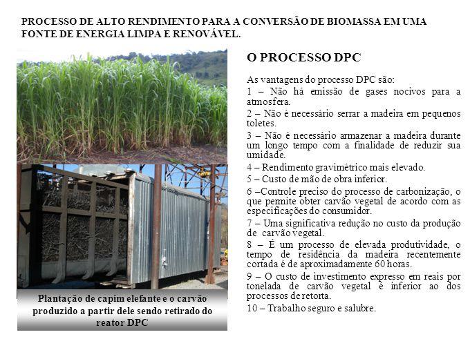 O PROCESSO DPC As vantagens do processo DPC são: 1 – Não há emissão de gases nocivos para a atmosfera. 2 – Não é necessário serrar a madeira em pequen