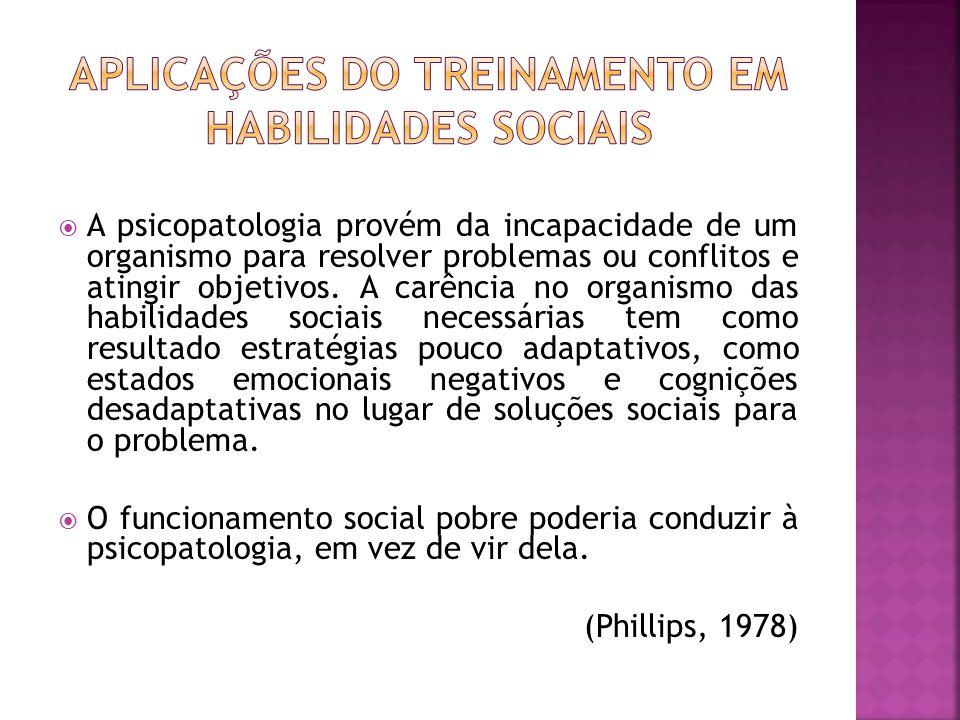A psicopatologia provém da incapacidade de um organismo para resolver problemas ou conflitos e atingir objetivos.