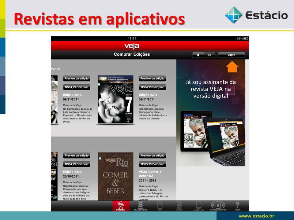 Revistas em aplicativos