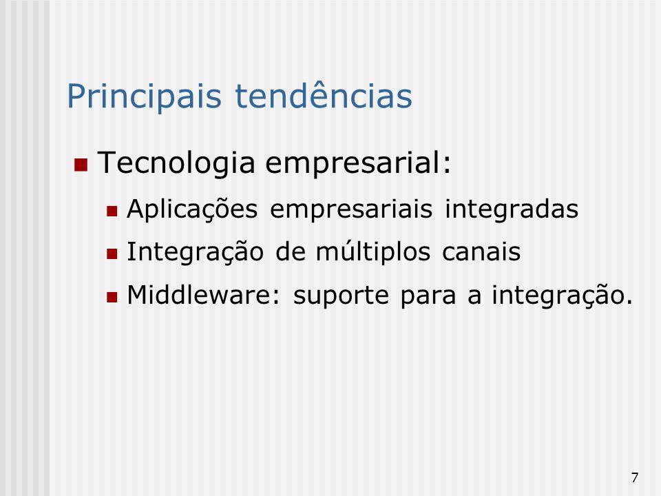 8 Tecnologia geral: Aplicações sem fio da web Equipamentos eletrônicos portáteis Convergência de infra-estrutura: voz, dados, vídeo.