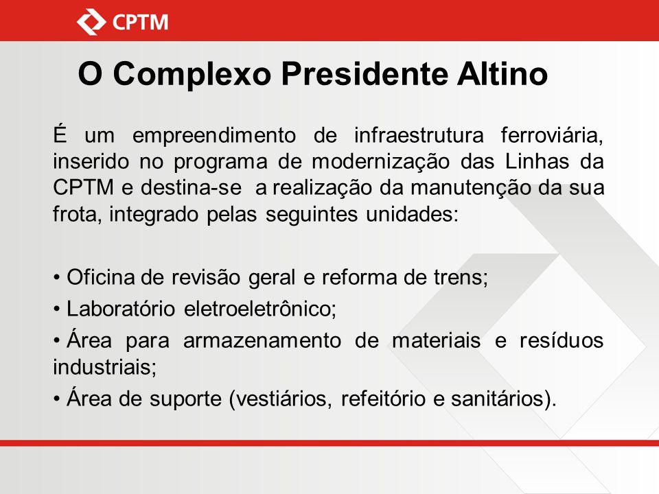 É um empreendimento de infraestrutura ferroviária, inserido no programa de modernização das Linhas da CPTM e destina-se a realização da manutenção da