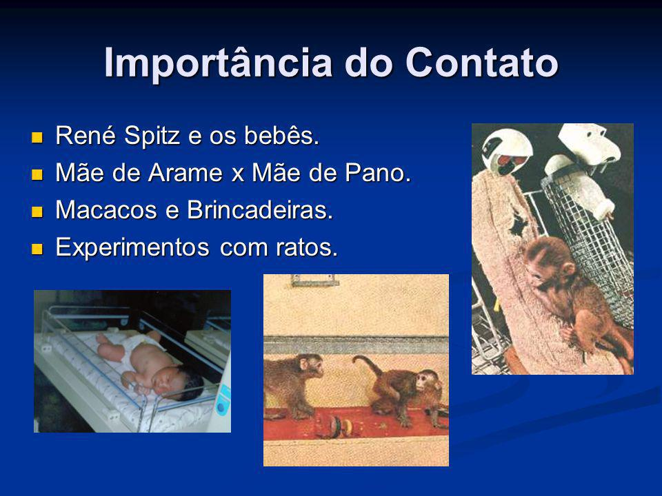 Importância do Contato René Spitz e os bebês. René Spitz e os bebês. Mãe de Arame x Mãe de Pano. Mãe de Arame x Mãe de Pano. Macacos e Brincadeiras. M
