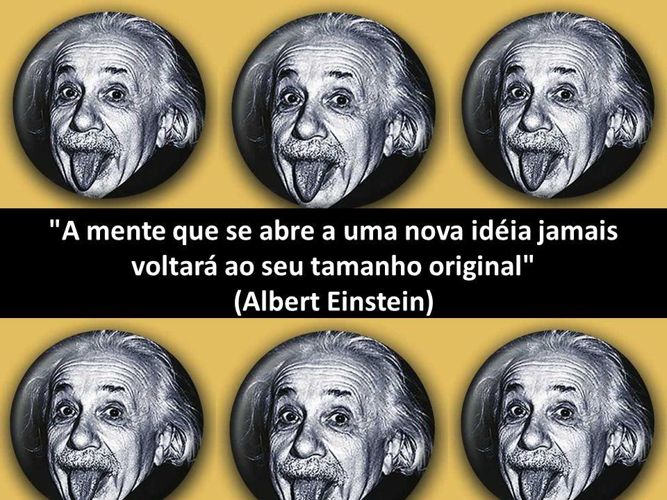 A mente que se abre a uma nova idéia jamais voltará ao seu tamanho original (Albert Einstein)