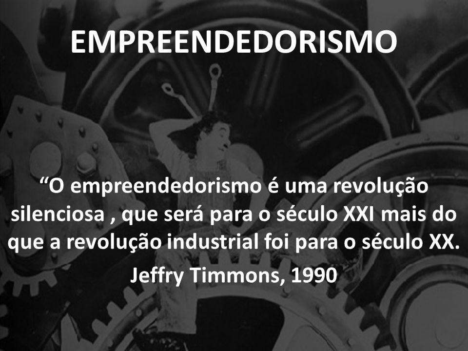 EMPREENDEDORISMO O empreendedorismo é uma revolução silenciosa, que será para o século XXI mais do que a revolução industrial foi para o século XX.