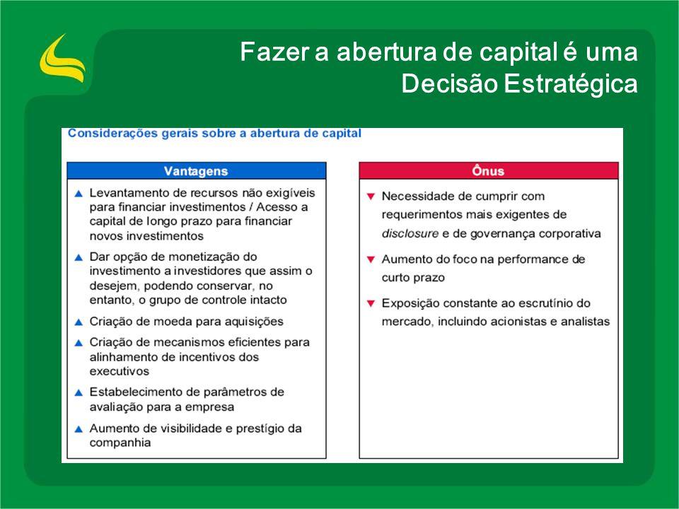 Condições para uma abertura de capital bem sucedida