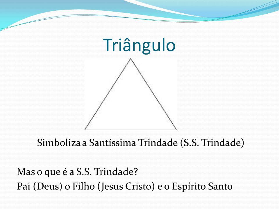 Triângulo Simboliza a Santíssima Trindade (S.S.Trindade) Mas o que é a S.S.
