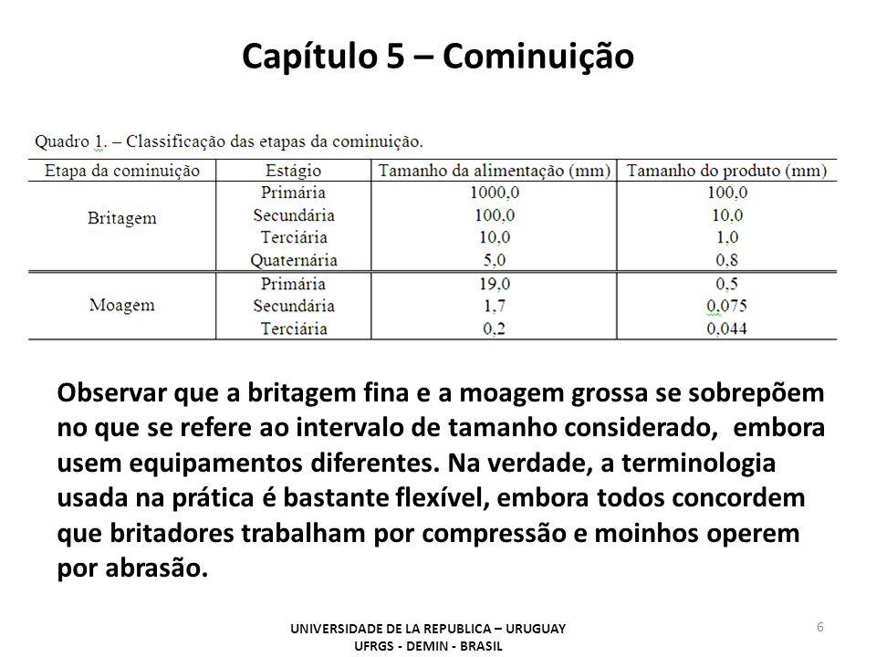 Capítulo 5 – Cominuição UNIVERSIDADE DE LA REPUBLICA – URUGUAY UFRGS - DEMIN - BRASIL 17 Figura 6- VisioRock® sistema da Metso.