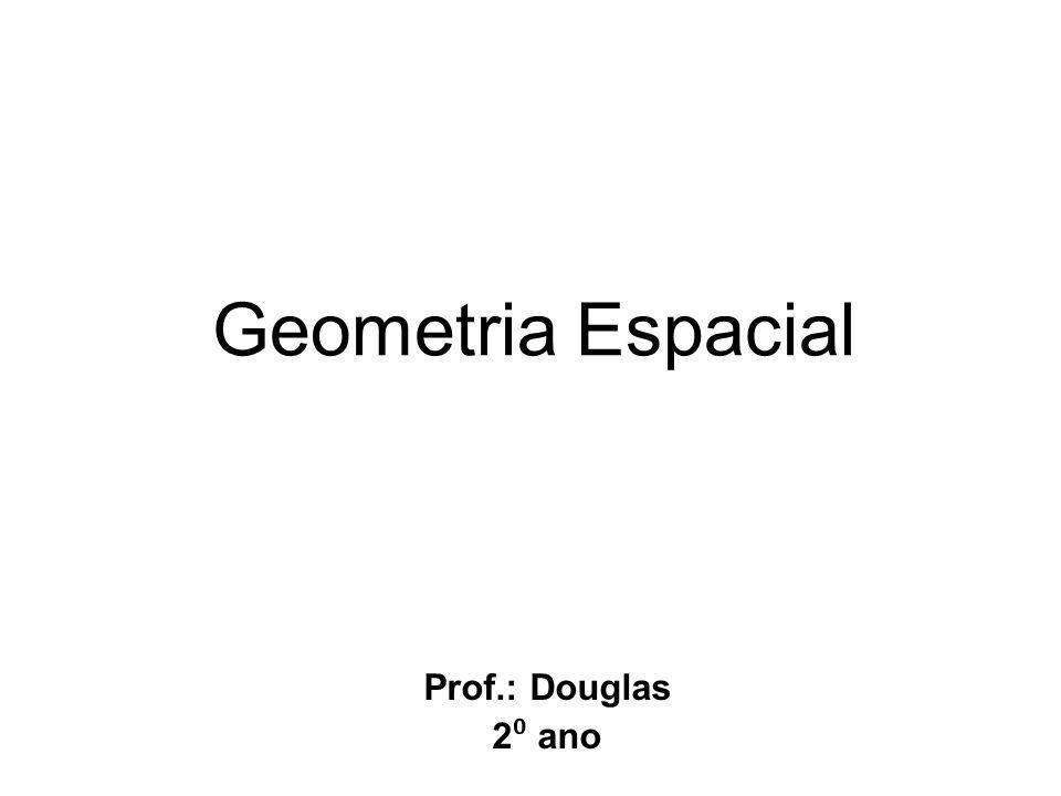 Geometria Espacial Prof.: Douglas 2 ano