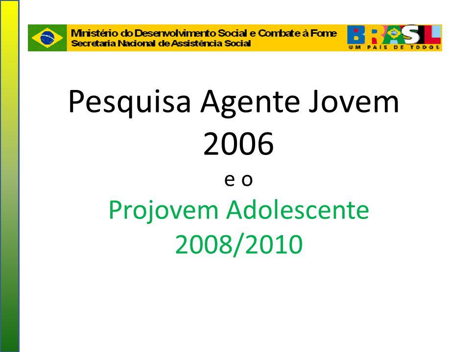 Pesquisa Agente Jovem 2006 e o Projovem Adolescente 2008/2010