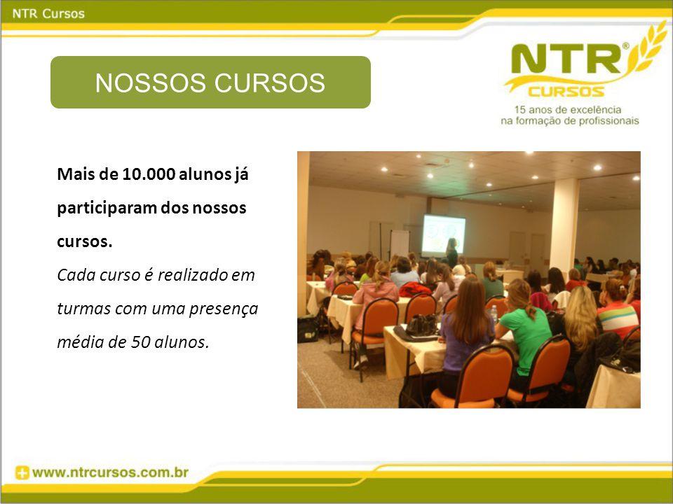 Mais de 10.000 alunos já participaram dos nossos cursos.