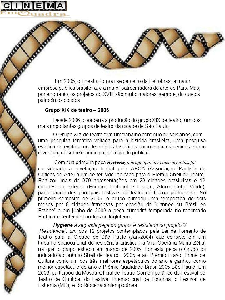 Em 2005, o Theatro tornou-se parceiro da Petrobras, a maior empresa pública brasileira, e a maior patrocinadora de arte do País.