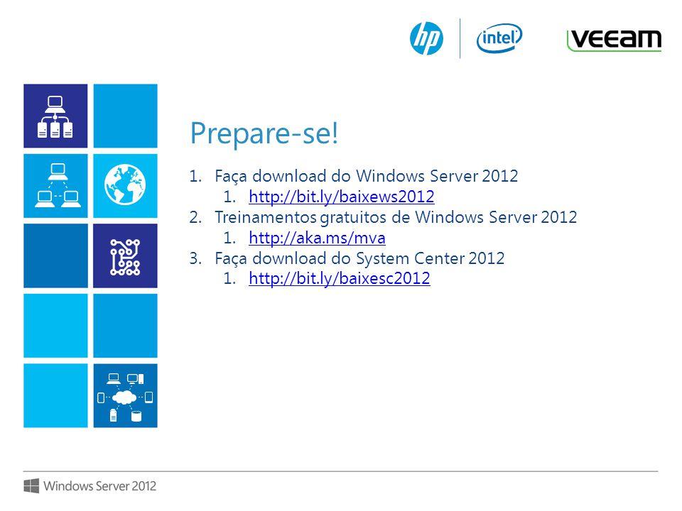 Além da virtualização 4 Otimize seu ambiente de TI para a Nuvem com o Windows Server 2012 Estilo de trabalho moderno, viabilizado Todas as Aplicações, Qualquer Nuvem Além da virtualização O poder de muitos servidores, a simplicidade de um só