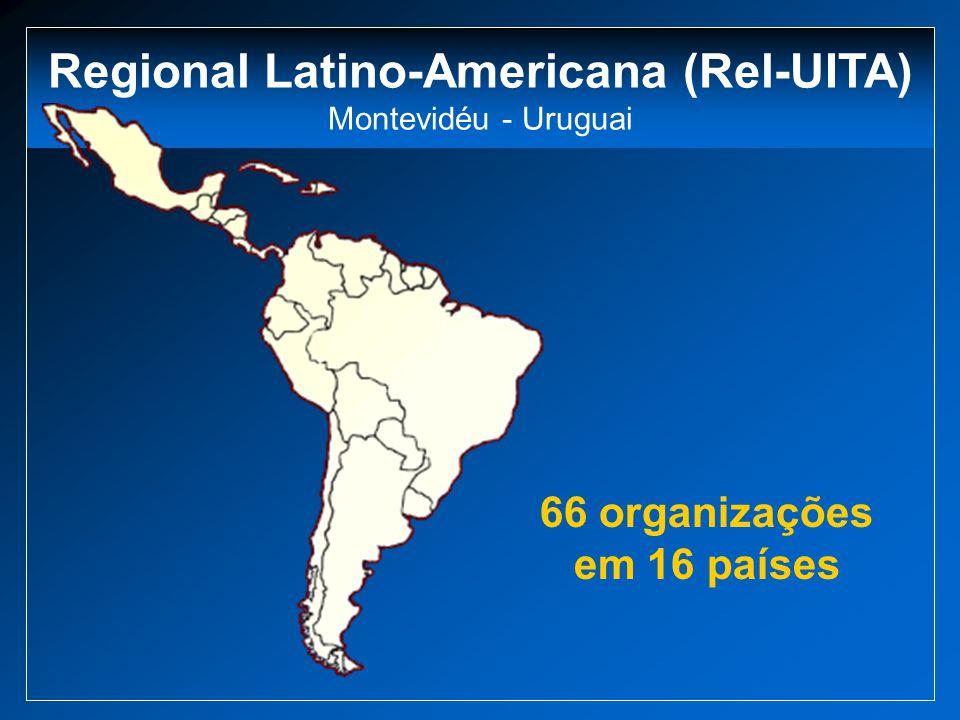 Regional Latino-Americana (Rel-UITA) Montevidéu - Uruguai 66 organizações em 16 países