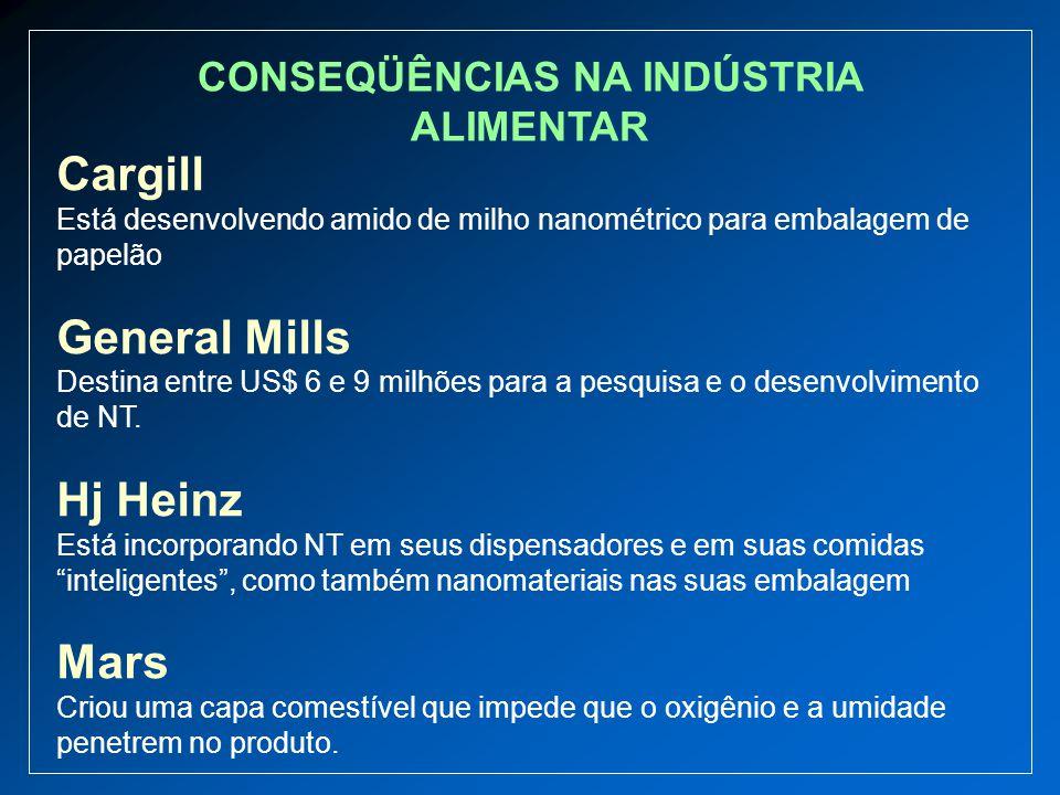 Cargill Está desenvolvendo amido de milho nanométrico para embalagem de papelão General Mills Destina entre US$ 6 e 9 milhões para a pesquisa e o dese