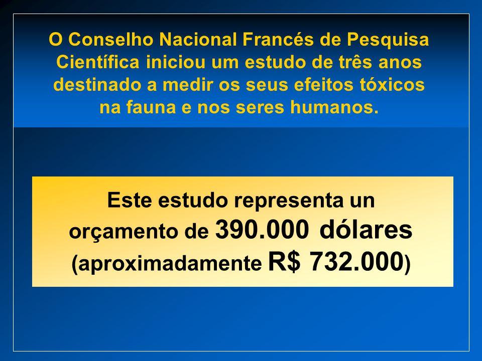 Este estudo representa un orçamento de 390.000 dólares (aproximadamente R$ 732.000 ) O Conselho Nacional Francés de Pesquisa Científica iniciou um est