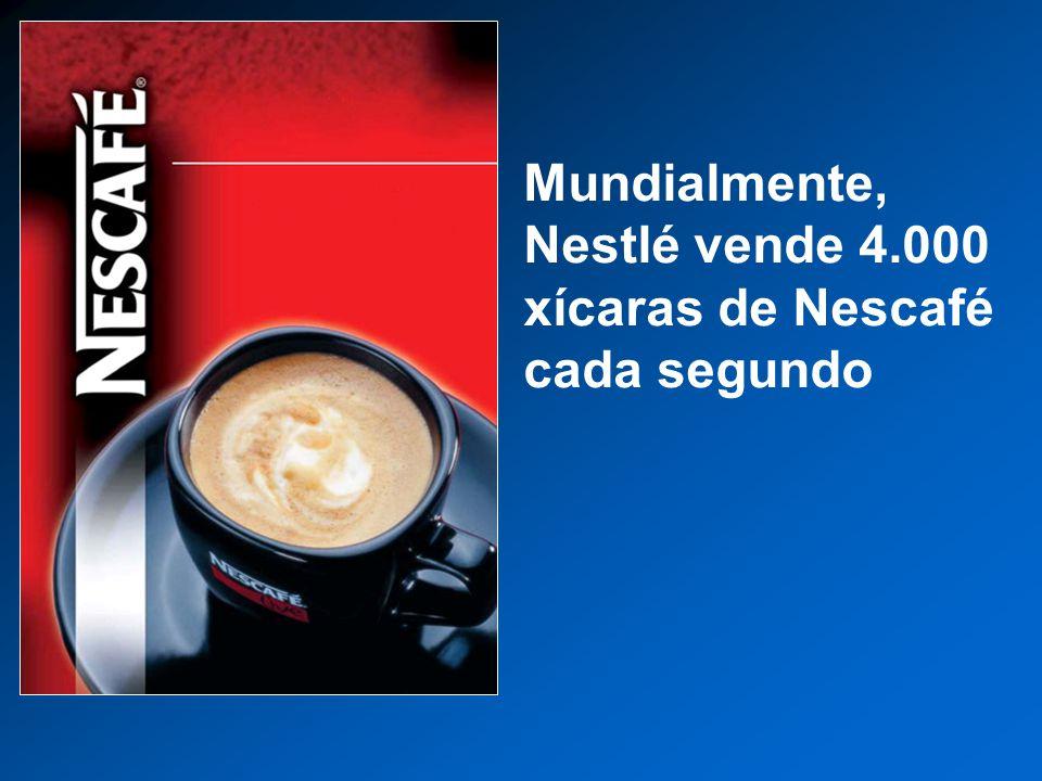 Mundialmente, Nestlé vende 4.000 xícaras de Nescafé cada segundo