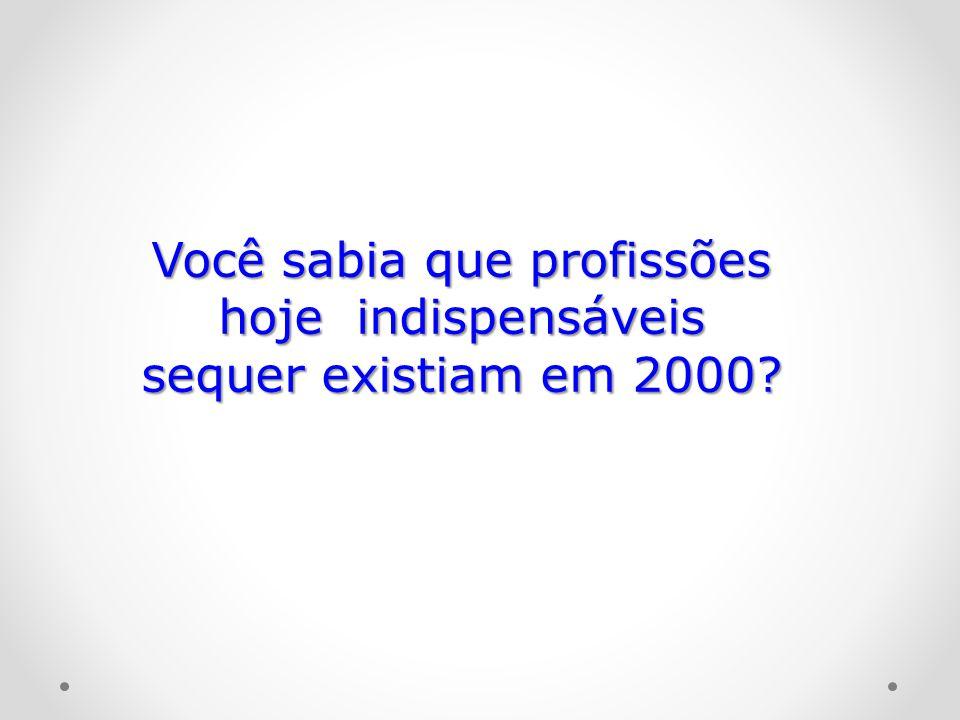 Você sabia que profissões hoje indispensáveis sequer existiam em 2000?