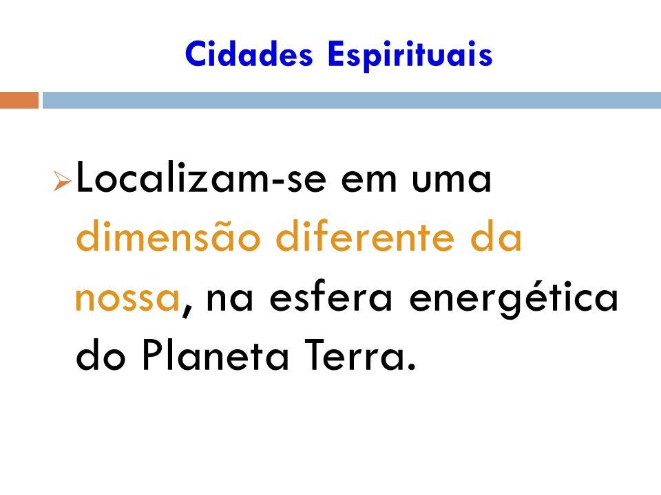 Localizam-se em uma dimensão diferente da nossa, na esfera energética do Planeta Terra.