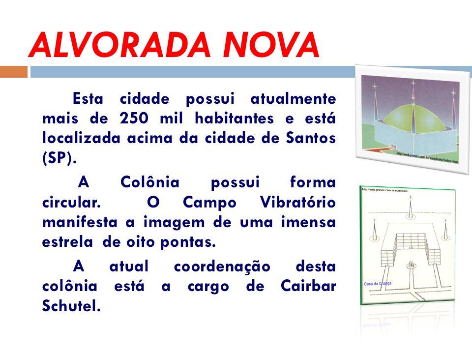 ALVORADA NOVA Esta cidade possui atualmente mais de 250 mil habitantes e está localizada acima da cidade de Santos (SP).
