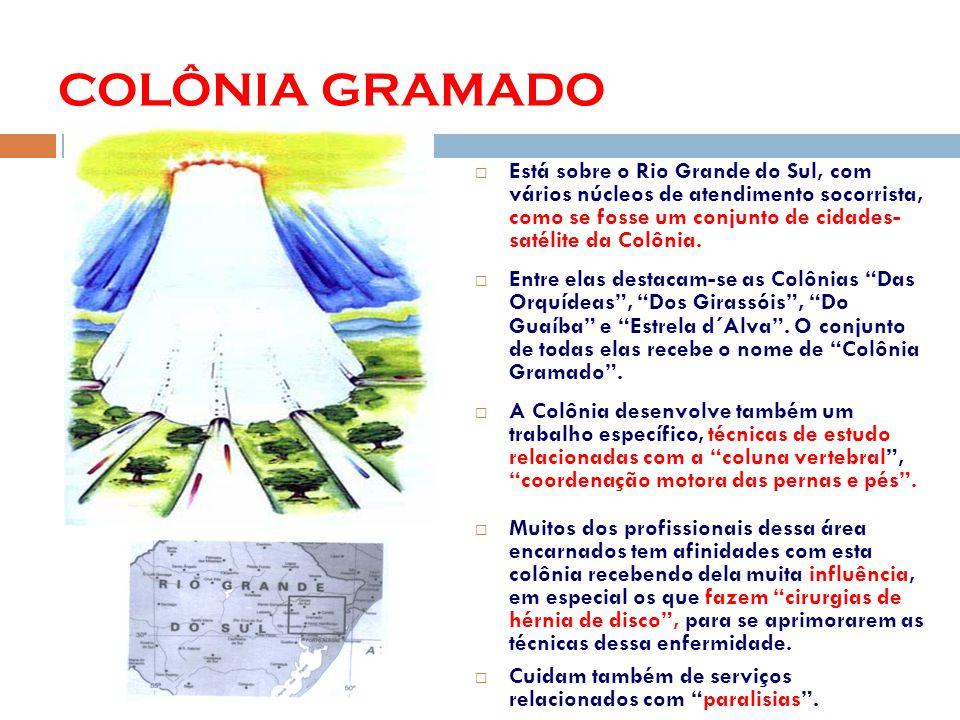 Está sobre o Rio Grande do Sul, com vários núcleos de atendimento socorrista, como se fosse um conjunto de cidades- satélite da Colônia.