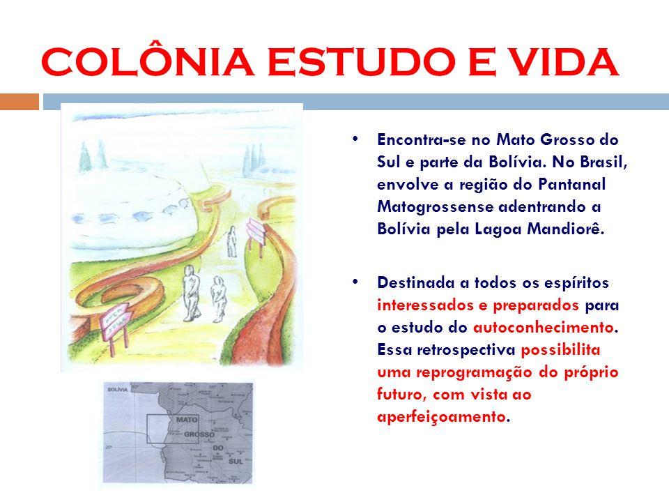 COLÔNIA ESTUDO E VIDA Encontra-se no Mato Grosso do Sul e parte da Bolívia.