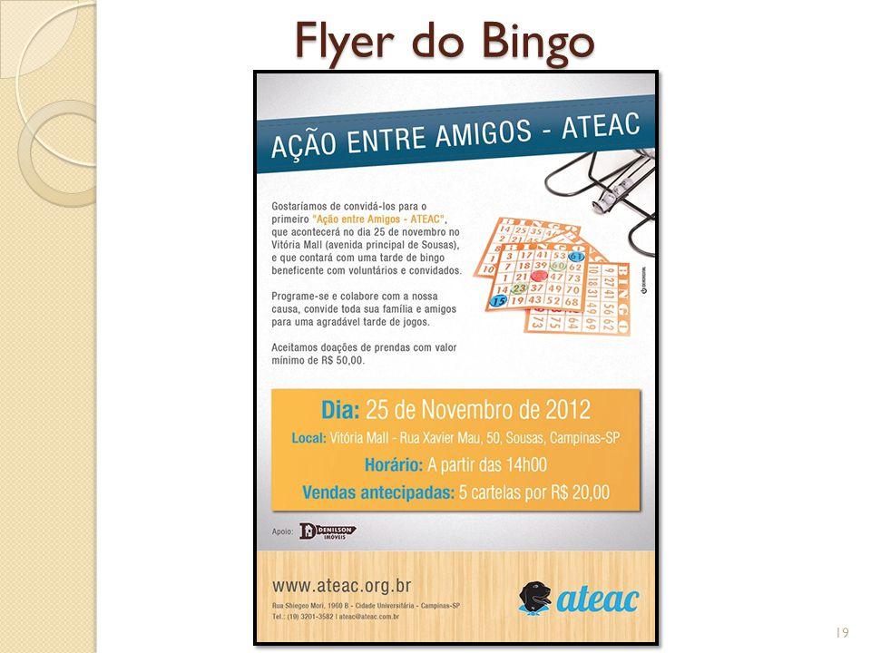 Flyer do Bingo 19