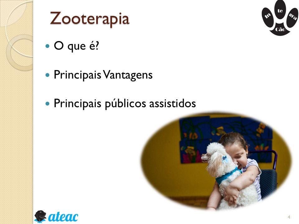 Zooterapia O que é? Principais Vantagens Principais públicos assistidos 4