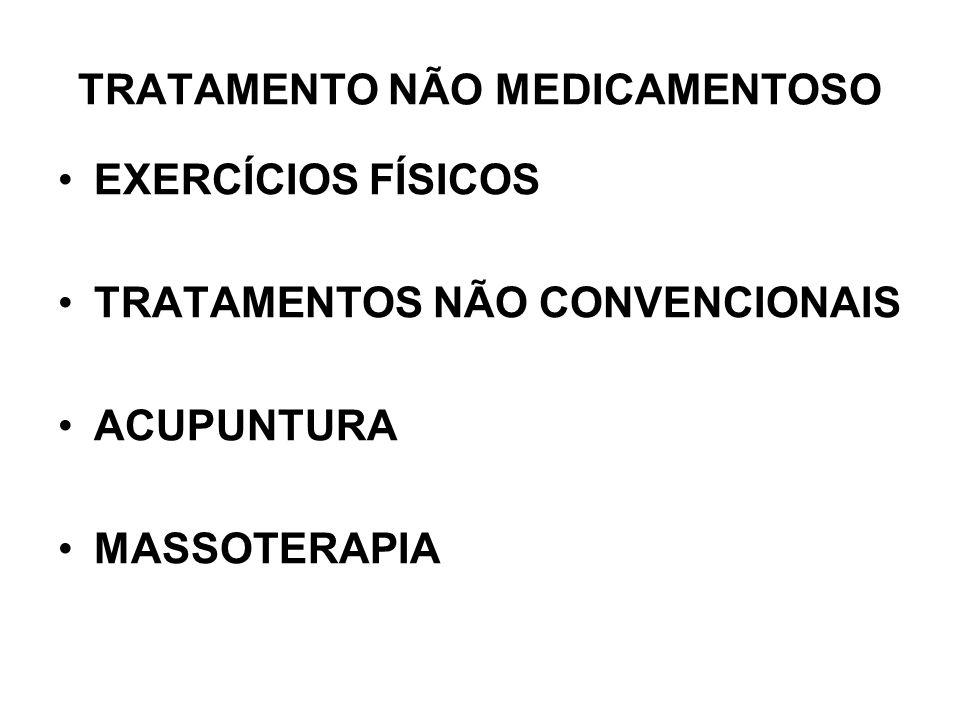 TRATAMENTO NÃO MEDICAMENTOSO EXERCÍCIOS FÍSICOS TRATAMENTOS NÃO CONVENCIONAIS ACUPUNTURA MASSOTERAPIA