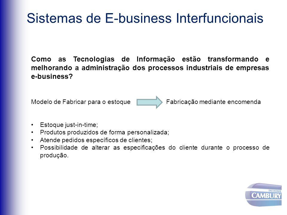 Como as Tecnologias de Informação estão transformando e melhorando a administração dos processos industriais de empresas e-business.
