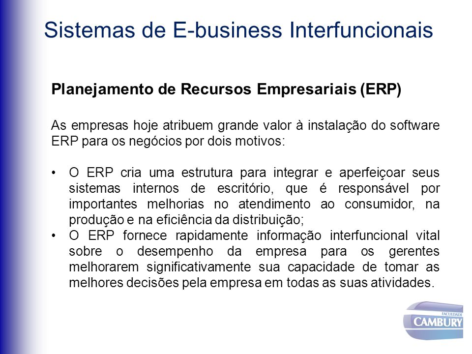 Trabalho sobre Middleware –Business object –Business Intelligence –E-Commerce