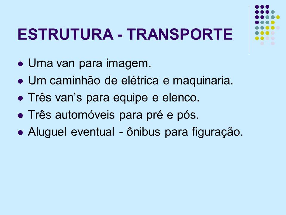 ESTRUTURA - TRANSPORTE Uma van para imagem.Um caminhão de elétrica e maquinaria.