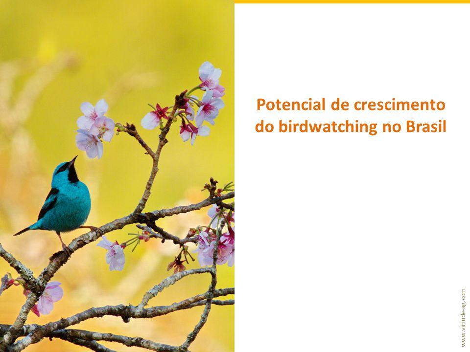 www.virtude-ag.com Potencial de crescimento do birdwatching no Brasil